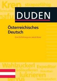 Jakob Ebner, Österreichisches Deutsch - Duden