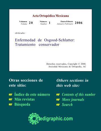 Enfermedad de Osgood-Schlatter: Tratamiento ... - edigraphic.com