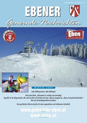 Gemeindezeitung Winter 2009 / 2010 - Gemeinde Eben