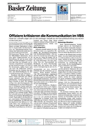 Offiziere kritisieren die Kommunikation im VBS - Thomas Hurter