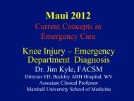 Knee Injuries - Introducing Emergencies in Medicine