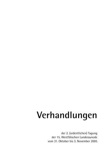 Landessynode 2005 - Evangelisch in Westfalen