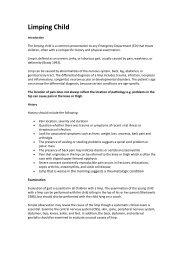 Limping Child - Emergency Medicine Journal