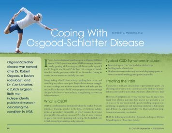 Coping With Osgood-Schlatter Disease - St. Croix Orthopaedics