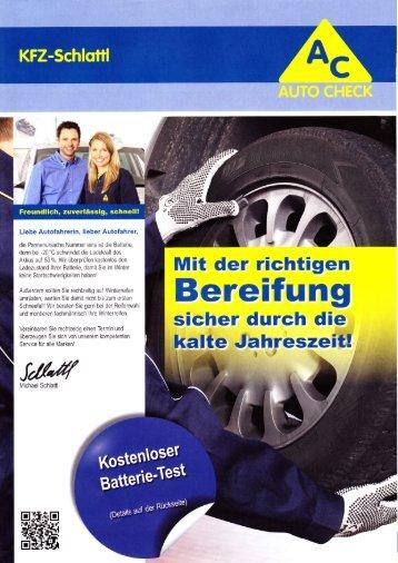 Bereifung - KFZ-Schlattl