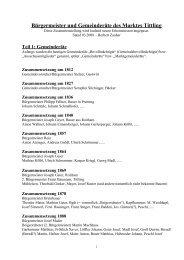 Teil 1: Gemeinderäte - Dreiburgenland-Tittling