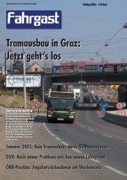 Sommer 2005: Kein Tramverkehr durch die Herrengasse GVB