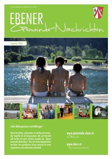 20 24 2 1. Preis beim Constantinus 2010 - Gemeinde Eben