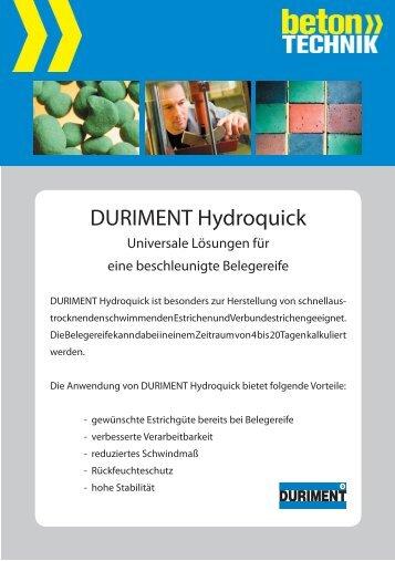 Hydroquick weiss - Betontechnik