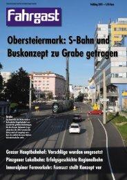 Obersteiermark: S-Bahn und Buskonzept zu Grabe getragen