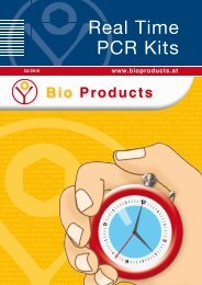 REAL TIME PCR KITS VIROLOGIE - Bio Products