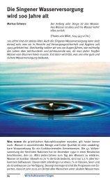 Die Singener Wasserversorgung wird 100 Jahre alt - Stadtwerke ...