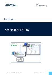 Factsheet - Schneider PL7 PRO