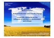Schlatzer Martin (BOKU, Vienna): Animal production and climate