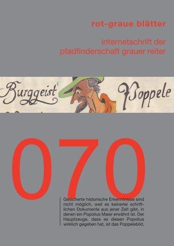 Geschichten vom Poppele - Schriftleitung