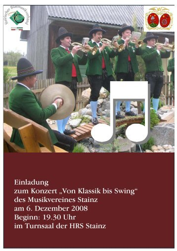 vorwort - Musikverein Stainz