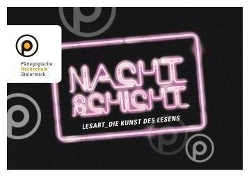 PHST Nachtschicht: LESART Die Kunst des Lesens - Pädagogische ...