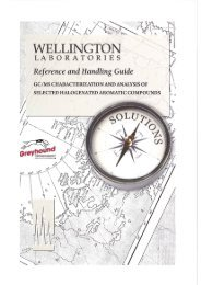 Wellington Reference and Handing Guide GC/MS Chara