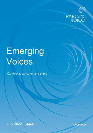 Emerging Voices series sampler booklet