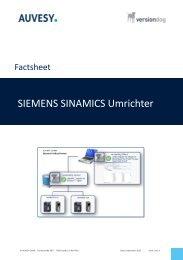 Factsheet - SIEMENS SINAMICS Umrichter