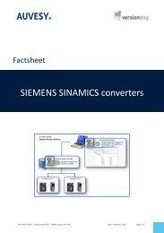 Factsheet - SIEMENS SINAMICS converters engl