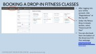 Dovercourt How to Book Drop-In fitness classes