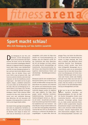 fitnessarena Sport macht schlau! Wie sich Bewegung auf das Gehirn ...