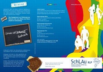 Flyer: SchLAu RLP