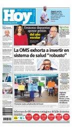 Edición impresa HOY martes 15 de septiembre del 2020