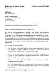 Landtag Brandenburg Drucksache 5/2380