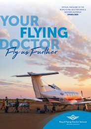 Royal Flying Doctor Service WA - Spring 2020