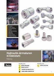 Katalog: Parker Hydraulik-Armaturen in Edelstahl