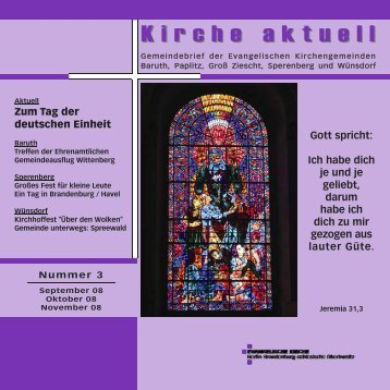H erzliche Einladung - Evangelischer Kirchenkreis Zossen-Fläming