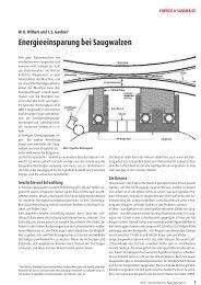 Energieeinsparung bei Saugwalzen - GS Paper Parts