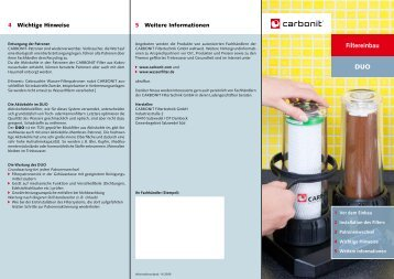 Filtergehäuse - carbonit Filtertechnik GmbH