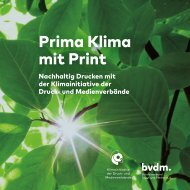 Prima Klima mit Print | Nachhaltiges Drucken mit der Klimainitiative der Druck- und Medienverbände