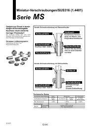 Miniatur-Verschraubungen/SUS316 (1.4401) Serie MS - SMC