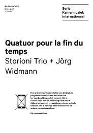 2020 09 16 Quatuor pour la fin du temps - Storioni Trio + Jörg Widmann