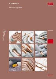 Haustechnik Produktprogramm - KME
