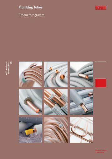 Plumbing Tubes Produktprogramm - KME