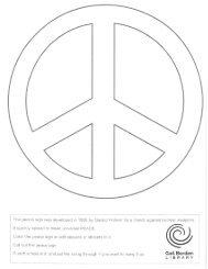 Peace symbol coloring sheet