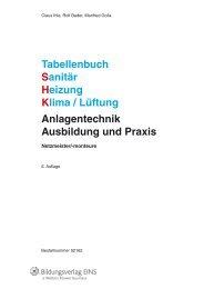 Tabellenbuch Sanitär Heizung Klima / Lüftung ... - Jugend und Volk