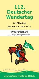 112. Deutscher Wandertag im Fläming 20. bis 25. Juni 2012