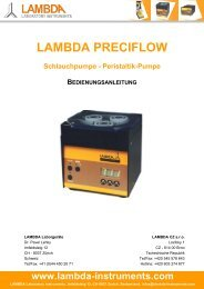 LAMBDA PRECIFLOW Peristaltik-Pumpen - Schlauchpumpen ...