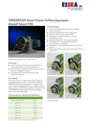 VERDERFLEX Smart Dosier-Schlauchpumpen Modell Smart F20