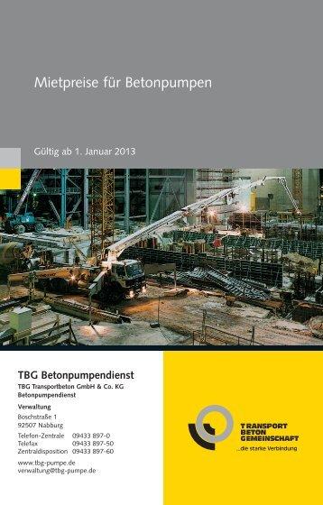 TBG Betonpumpendienst - HeidelbergCement
