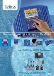 Wasseraufbereitung in bester Qualität! - Topras Schwimmbadtechnik