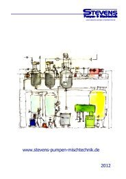 Reinraum - Mischer - Stevens Pumpen