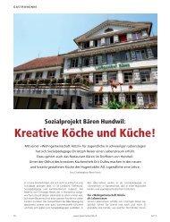 Sozialprojekt Bären Hundwil - Hugentobler Schweizer Kochsysteme ...