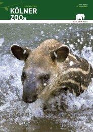 Nr. 1/2012, 55. Jahrgang (PDF) - Kölner Zoo